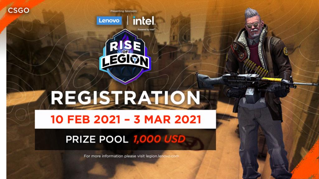 เปิดรับสมัครแข่งขันเกม CS:GO และ Valorant ในรายการ RISE OF LEGION และ LEGION OF VALKYRIES